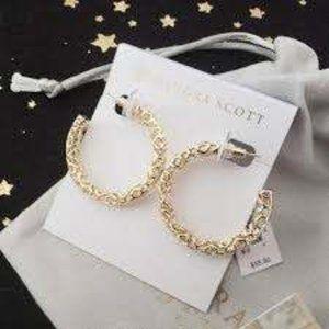 NWT - Kendra Scott Maggie Filigree Hoop Earrings